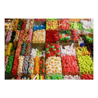 Market Candy Sweets Barcelona Spain Posters