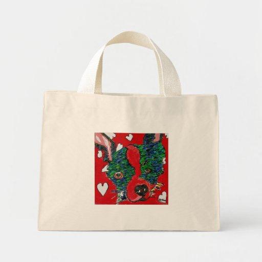 Market Canvas Tote- Robin Mini Tote Bag