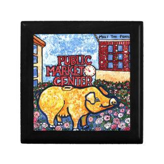 Market Center Pig Jewelry Box
