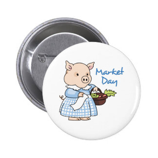 MARKET DAY PINBACK BUTTONS