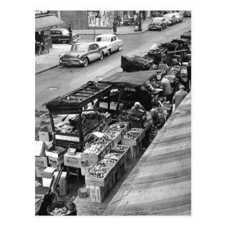 Market del granjero de Brooklyn 1960 Tarjetas Postales
