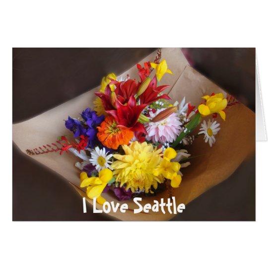 Market Flowers Card
