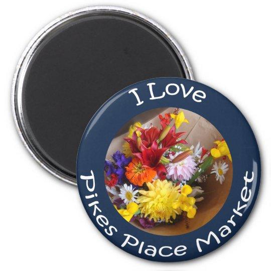 Market Flowers Magnet