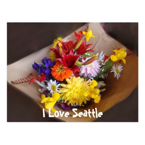 Market Flowers Postcard