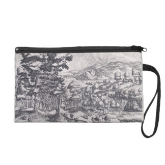 Market for the country by Pieter Bruegel the Elder Wristlet Clutch