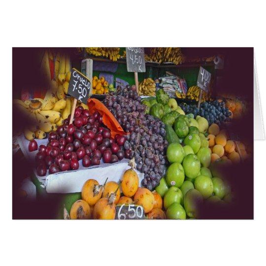 Market Fruit Stall Card