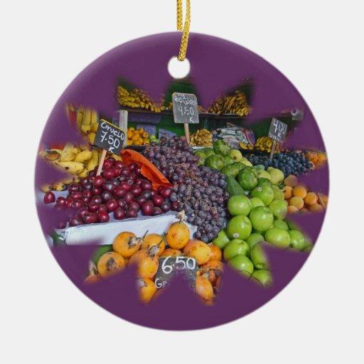 Market Fruit Stall Christmas Ornament