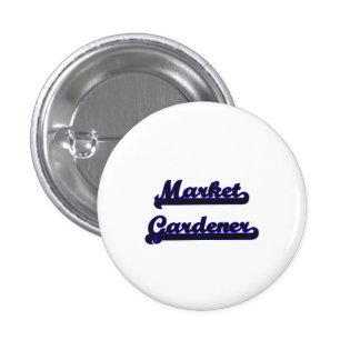 Market Gardener Classic Job Design 1 Inch Round Button