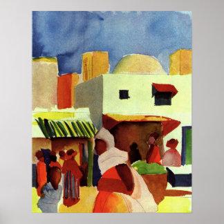Market in Algier by August Macke Posters