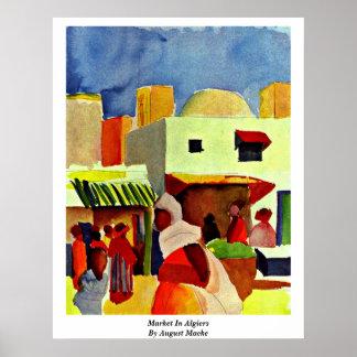 Market In Algiers By August Macke Poster
