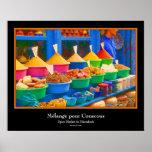 Market in Morocco - Mélange pour Couscous Poster