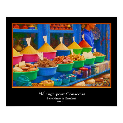 Market in Morocco - Mélange pour Couscous Print