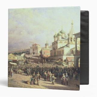 Market in Nishny, Novgorod, 1872 3 Ring Binder
