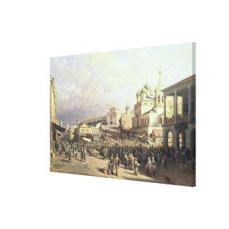Market in Nishny, Novgorod, 1872 Canvas Print