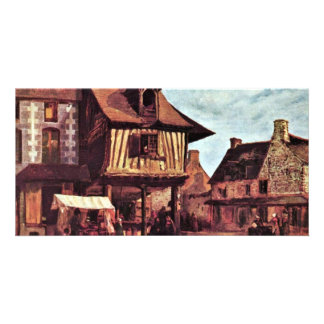 Market In Normandy By Rousseau Théodore Photo Greeting Card
