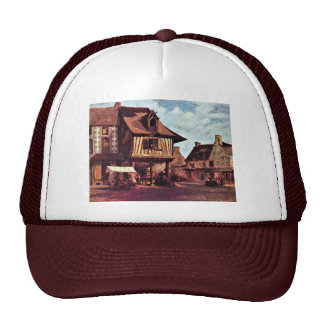 Market In Normandy By Rousseau Théodore Trucker Hat