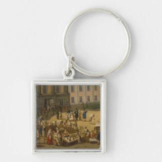 Market in the Alter Markt, Potsdam, 1772 Silver-Colored Square Keychain