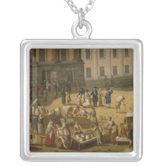 Market in the Alter Markt, Potsdam, 1772 Silver Plated Necklace
