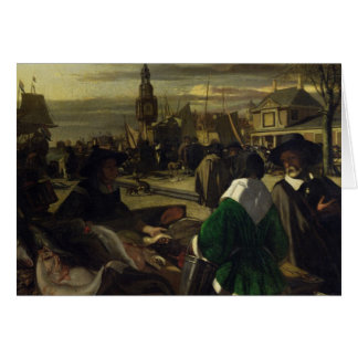 Market in the Hague, c.1660 Card