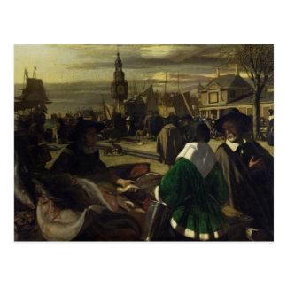 Market in the Hague, c.1660 Postcard