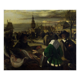 Market in the Hague, c.1660 Poster