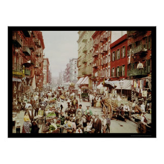Market Mulberry St. New York City 1900 Poster