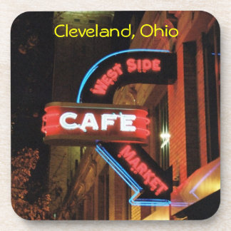 Market Neon Sign (Cleveland) Coaster