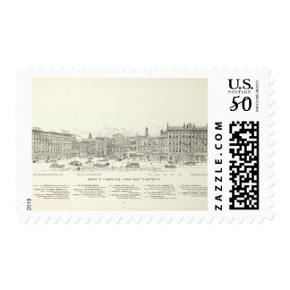 Market North side Front and Battery Postage