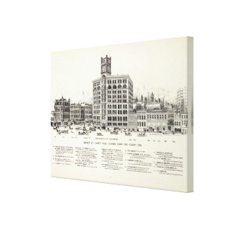 Market North side Geary and Kearny Canvas Print