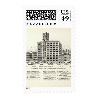 Market North side Geary and Kearny Postage Stamps
