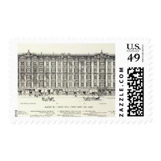 Market North side Grant West Postage Stamps