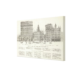 Market North side Post and Montgomery Canvas Print