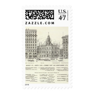 Market North side Post and Montgomery Stamp