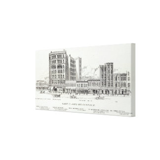 Market North side Taylor Gallery Wrapped Canvas
