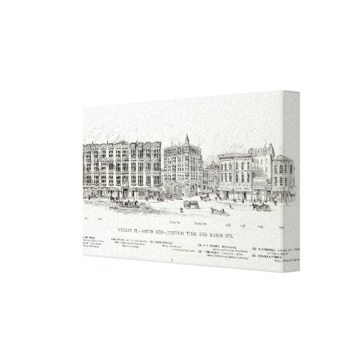 Market North side Turk and Mason Stretched Canvas Print