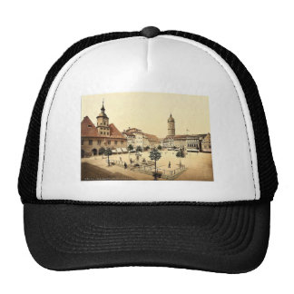 Market place and Bismarck's Fountain, Jena, Thurin Hat
