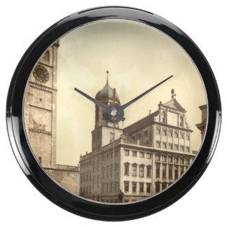 Market Place Augsburg Bavaria Germany Aqua Clocks