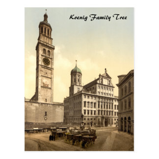 Market Place, Augsburg, Bavaria, Germany Postcard