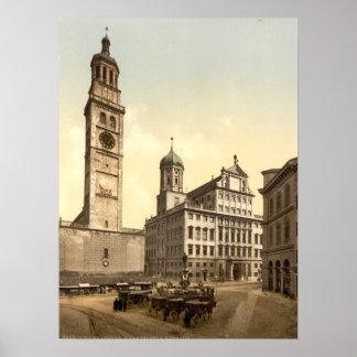 Market Place, Augsburg, Bavaria, Germany Poster