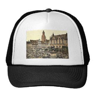 Market place, Breslau, Silesia, Germany (i.e., Wro Trucker Hat