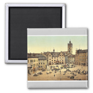 Market place, Darmstadt, the Rhine, Germany magnif Magnet