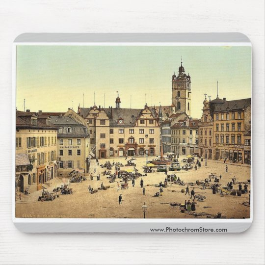 Market place, Darmstadt, the Rhine, Germany magnif Mouse Pad