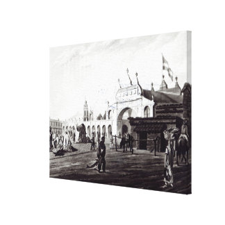 Market Place, engraved by Daniel Havell  1820 Canvas Print