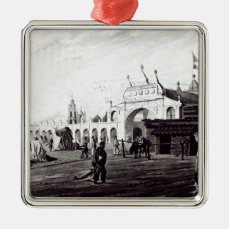 Market Place, engraved by Daniel Havell  1820 Metal Ornament
