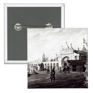 Market Place, engraved by Daniel Havell  1820 Pinback Button