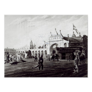 Market Place, engraved by Daniel Havell  1820 Poster