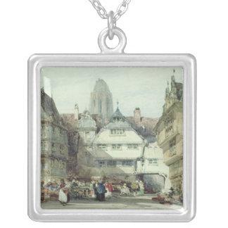 Market Place, Frankfurt Square Pendant Necklace