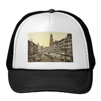 Market place, from the East, Breslau, Silesia, Ger Trucker Hat