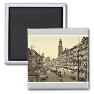 Market place, from the East, Breslau, Silesia, Ger Magnet
