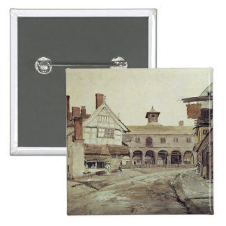Market Place, Hereford, 1803 Pinback Button